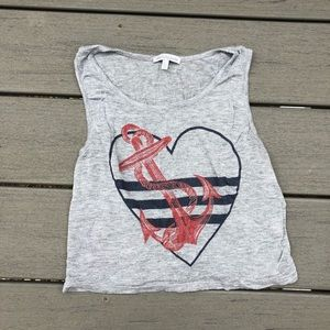 Charlotte Russe Anchor Crop Top